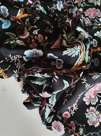 Floral black- Viscose