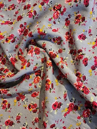 Floral linen mix