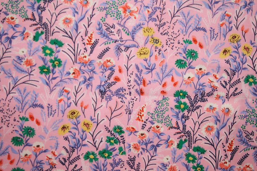 Meadow Flowers 100% Cotton- Rose & Hubble