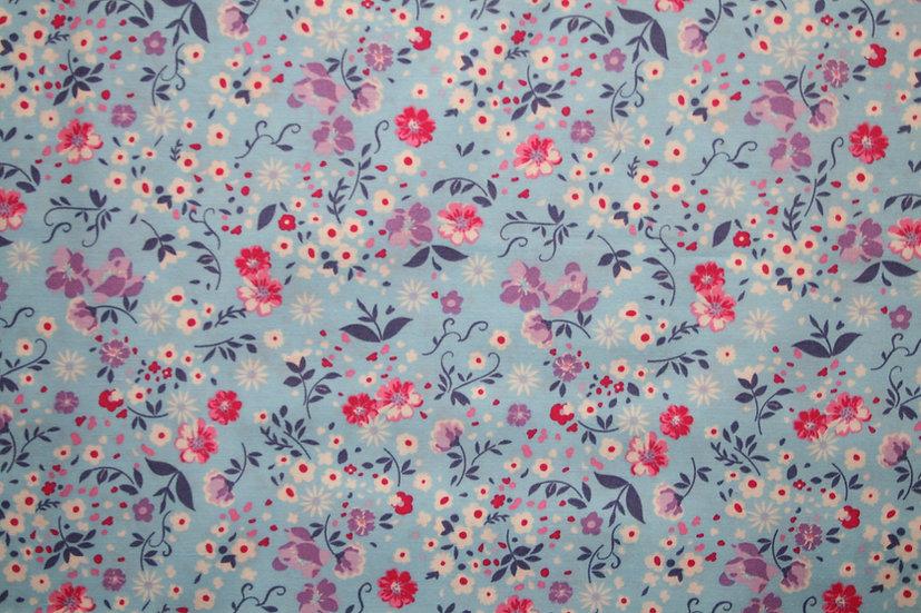Floral Sky 100% Cotton- Rose & Hubble