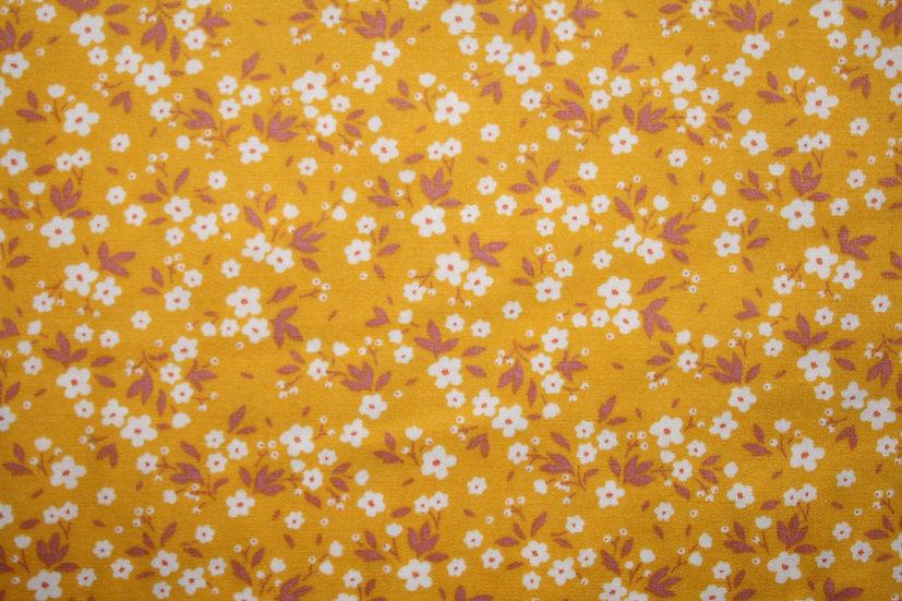 Ochre Floral 100% Cotton- Rose & Hubble