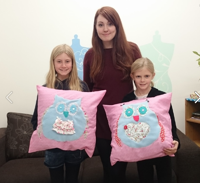 Charlotte and Zoes owl cushion