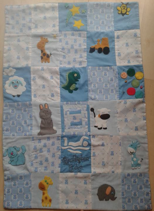 patchwork quilt baby shower
