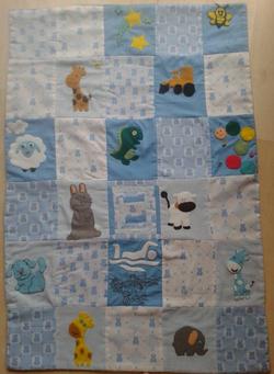 patchwork quilt baby shower