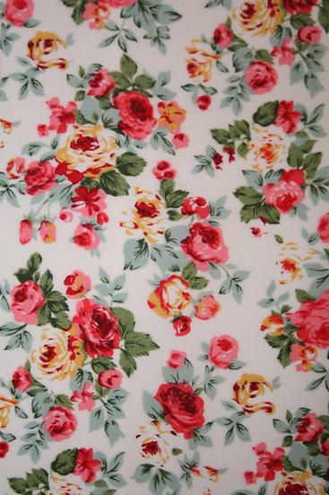 Floral 100% Cotton- Rose & Hubble