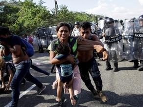Guardia Nacional vuelve a contener por la fuerza a caravana migrante