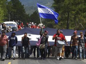 Caravana migrante proveniente de Honduras se reduce por coronavirus