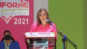 Margarita Sarmiento Tovilla presenta Tercer Informe de actividades