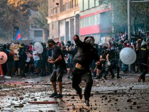 Jornada violenta en protestas chilenas