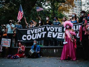 Las calles en Estados Unidos celebran victoria de Biden