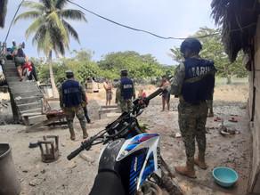 Secretaría de Marina-Armada mantiene apoyo permanente a población afectada en Chiapas
