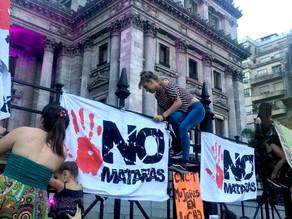 Paro Nacional de Mujeres en Argentina contra feminicidios