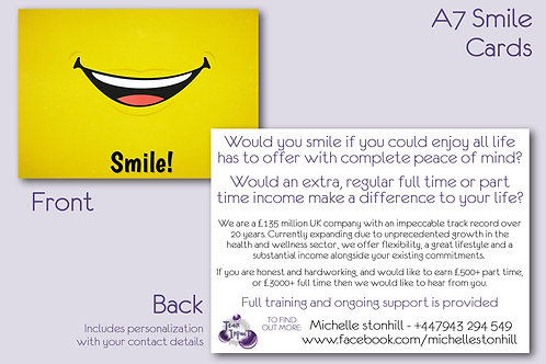 A7 Smile Cards
