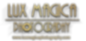 gold 3d letters Lux Magica watermark.png
