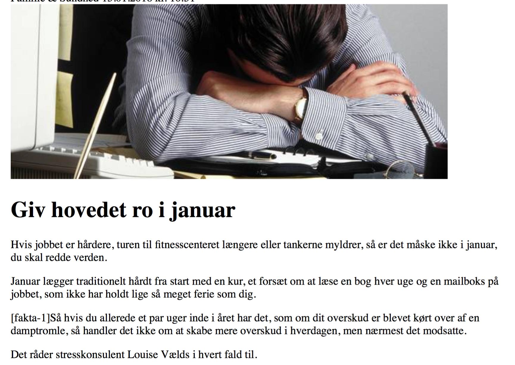 Artikel i Jyllandsposten