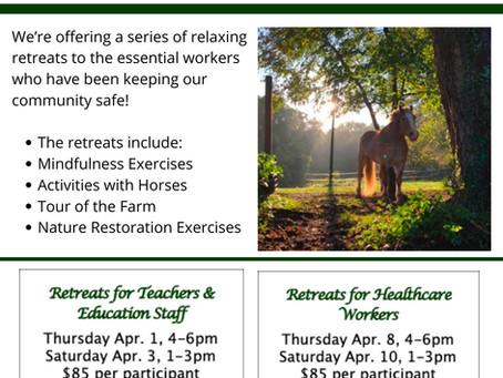NVTRP Farm Retreats: Rest. Relax. Restore.