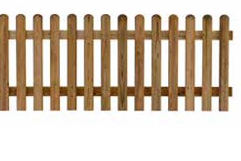 Recinzione diritta in legno - Pircher