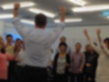 Leadership workshop with Glenn Hall at Just Improvise