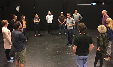 Teambuilding workshop with Glenn hall at Just improvise in Perth..jpg