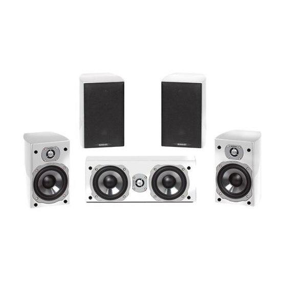 5.0 Surround-Lautsprecher mit eleganten hochglanzlackierten Gehäuse HiFi und Sur