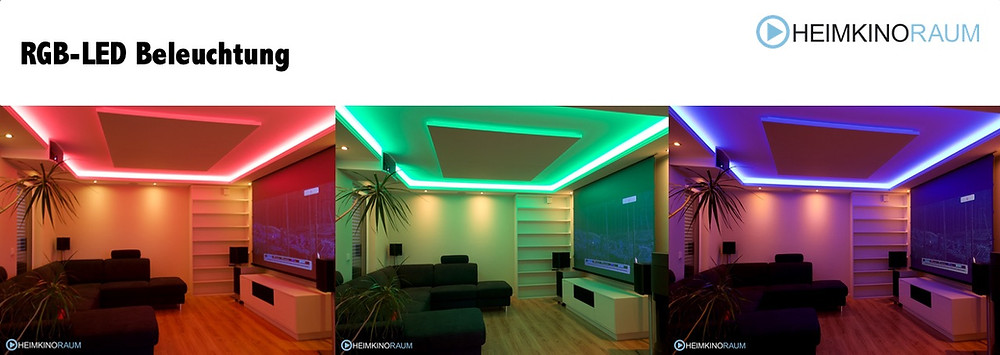 RGB LED Beleuchtung in Wohnzimmer
