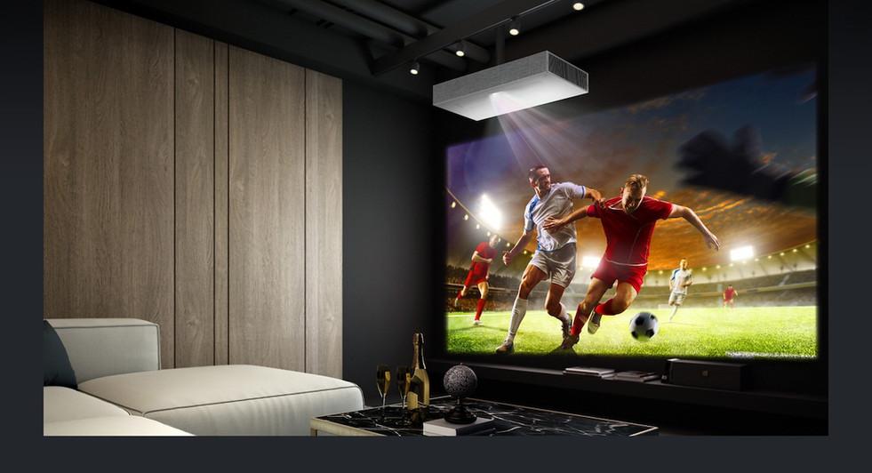 LaserTV Beamer an der Decke