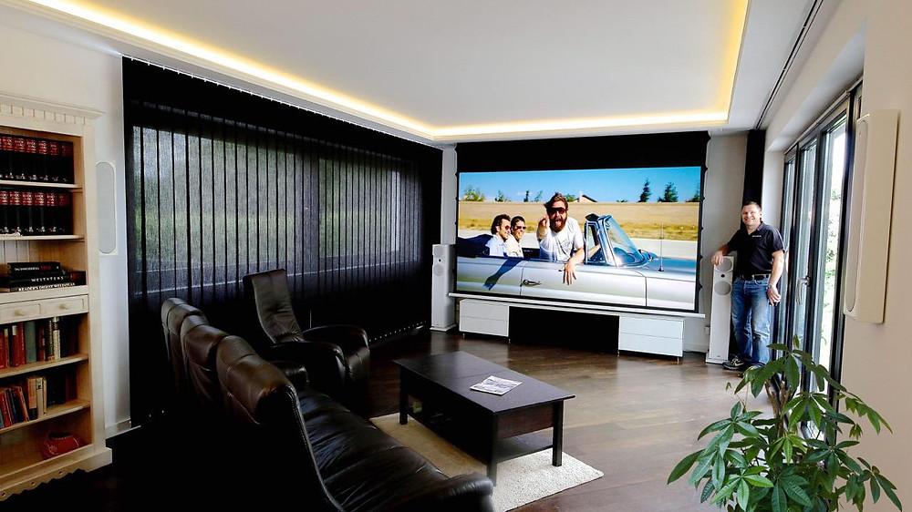 Kino integriert in Wohnzimmer