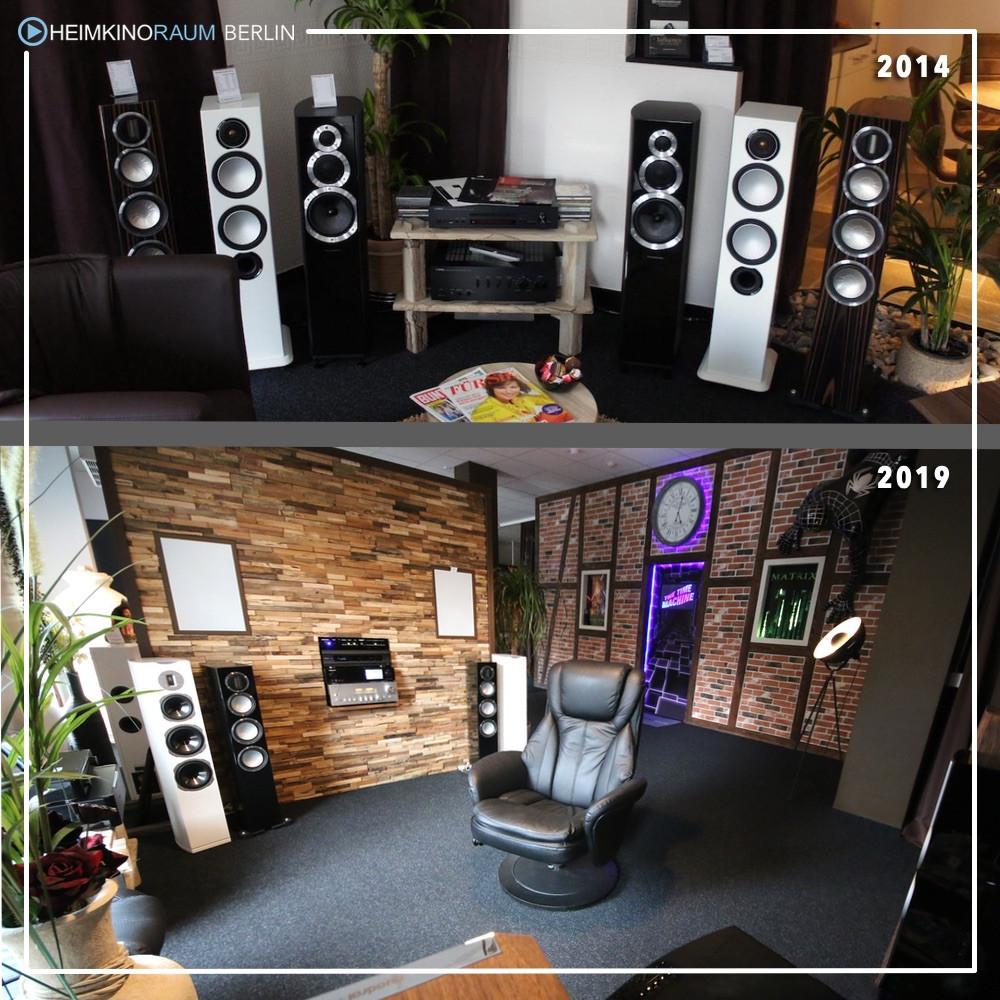 Lautsprechervergleich 2014 in Köpenick vs. 3x größerer Lautsprechervergleich 2019  im Kino-im-Wohnzimmer