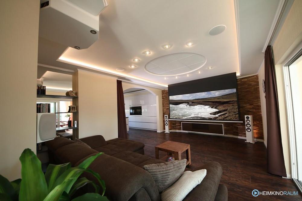 Heimkinolösung im Wohnzimmer