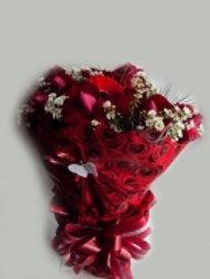 Buque de Rosas importadas C/ Gerberas