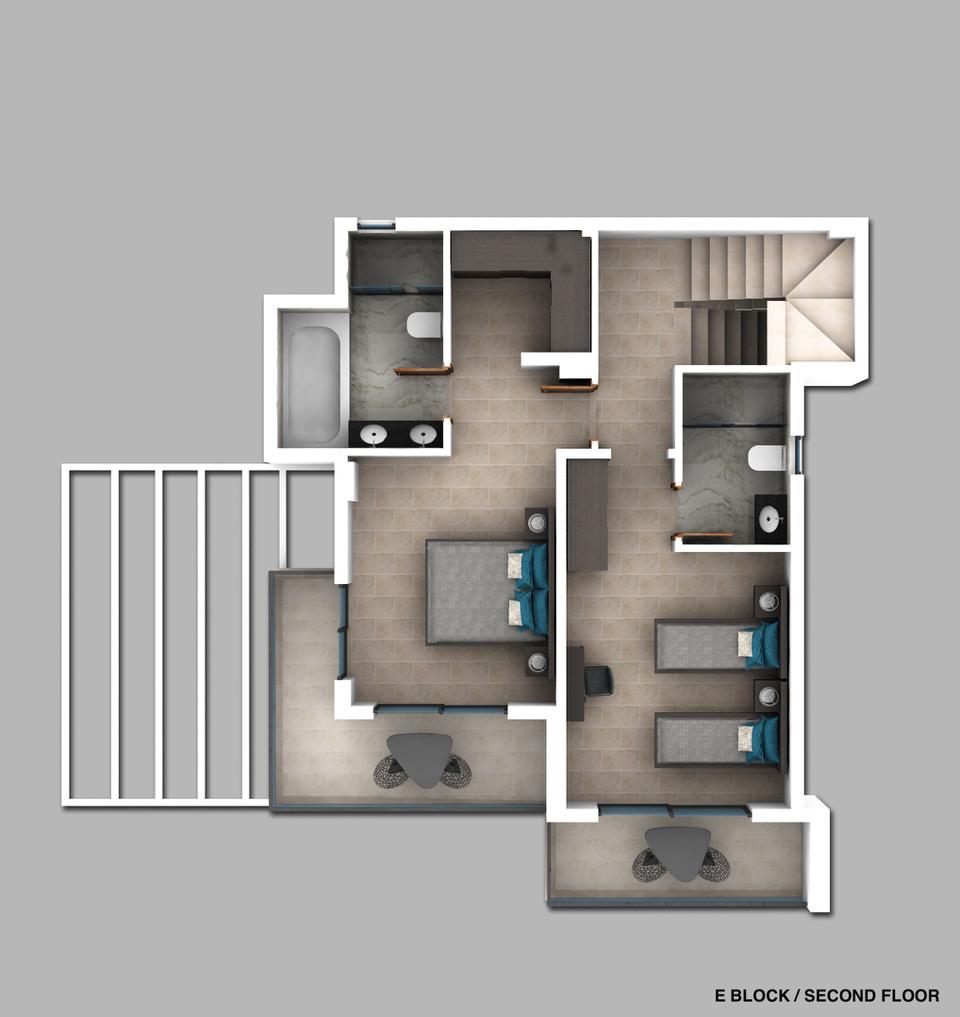 Bedrooms floor plan 1