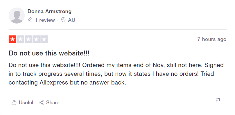 Review of AliExpress.
