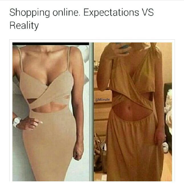 Expectations vs Reality Online Shopping