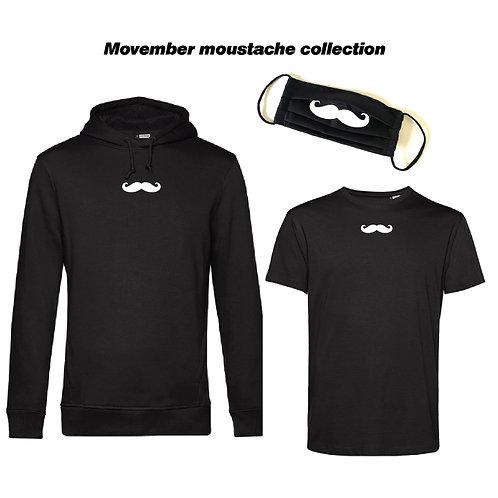 Trio Movember #organic Hoodie + T-shirt + Maska