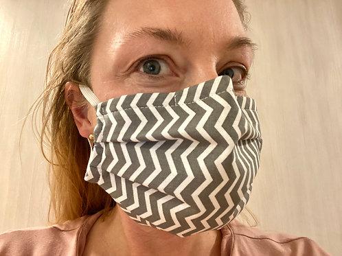 Kroj: Zaščitna pralna maska z žičko in filter žepom #harmonika