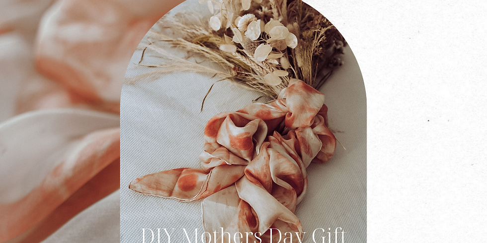 DIY Mothers Day gift | Botanically dyed silk scarf