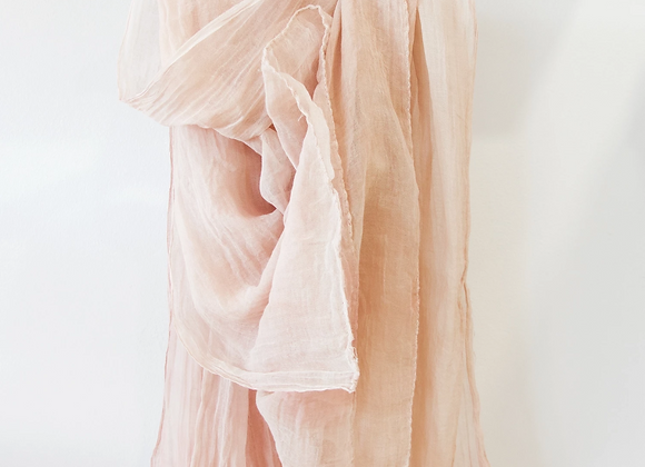 Khadi Cotton Muslin Shawl - Dyed with Avocado Seeds