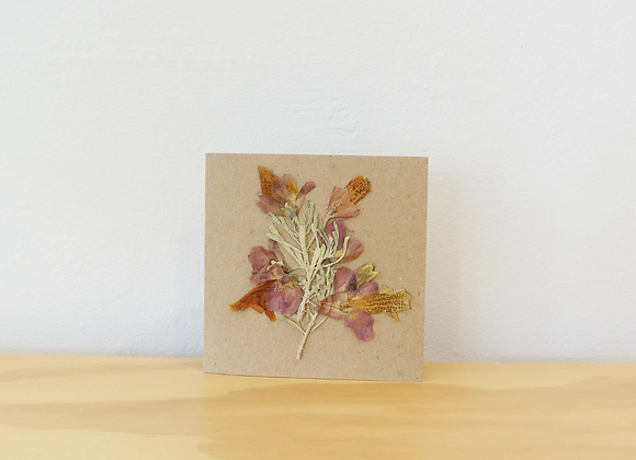 Native Pressed  Flowers + Recycled Cards
