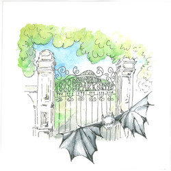Devonshire the bat at the Gates