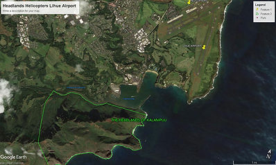 Headlands and Lihue Airport and Helicopt