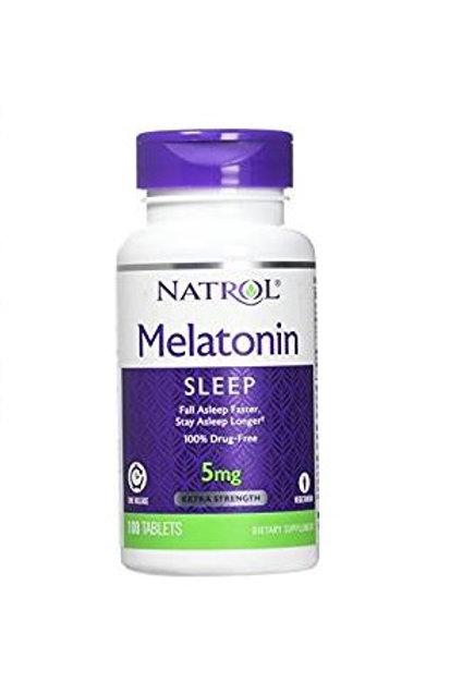 Natrol Melatonina Time Release de 5mg com 100 tabletes
