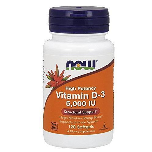 Vitamina D3 5.000IU da NOW com 120 softgels