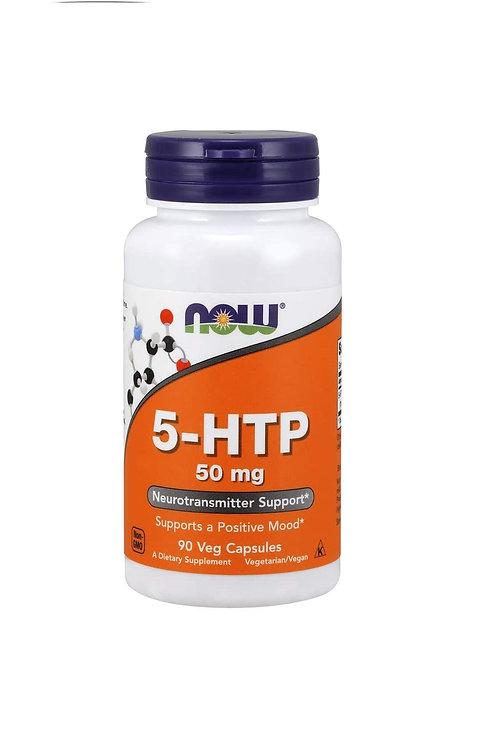 5-HTP da NOW de 50mg com 90 cápsulas