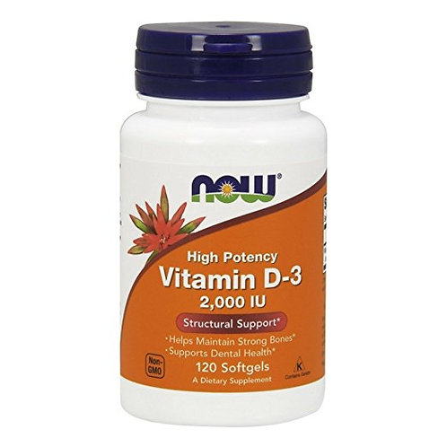Vitamina D3 2.000IU da NOW com 120 softgels