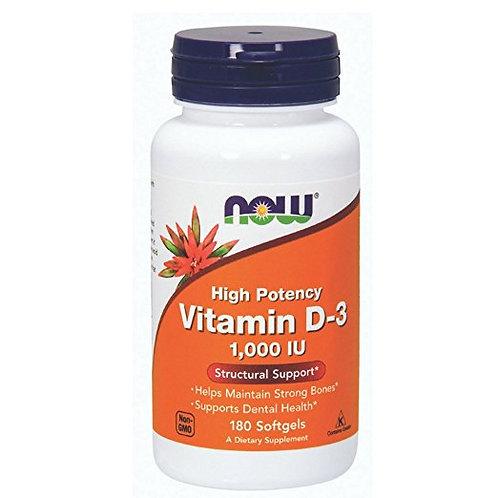 Vitamina D3 1.000IU da NOW com 180 softgels