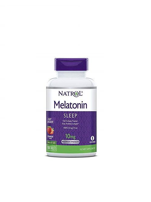 Natrol Melatonina Fast Dissolve de 10mg com 100 tabletes