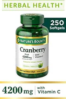 Cranberry da Nature's Bounty de 4200mg com 250 softgels