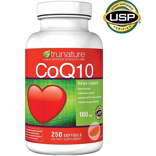 CoQ10 da TruNature de 100mg com 250 softgels