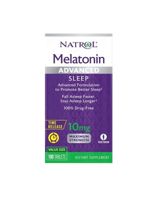 Melatonina da Natrol de 10mg Time Release com 100 tabletes