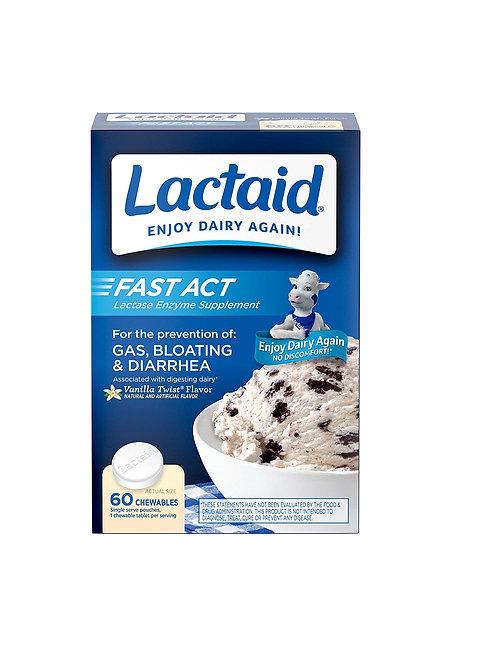 Lactaid Mastigável Fast Act (9.000 FCC) 60 comprimodos